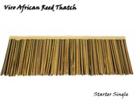Viro African Reed Synthetic Thatch Starter Panel