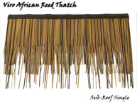 Viro African Reed Synthetic Thatch Sub-Roof Panel