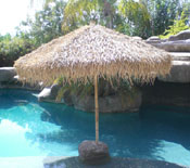 Bamboo Palapa next to a pool