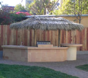 Two Pole Palm Palapa over a BBQ
