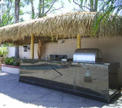 Two Pole Palm Palapa over a BBQ and Counter Top